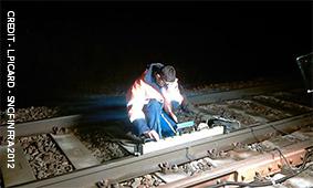 SNCF Infra, personne travaillant dans les emprises sur niveau des voies