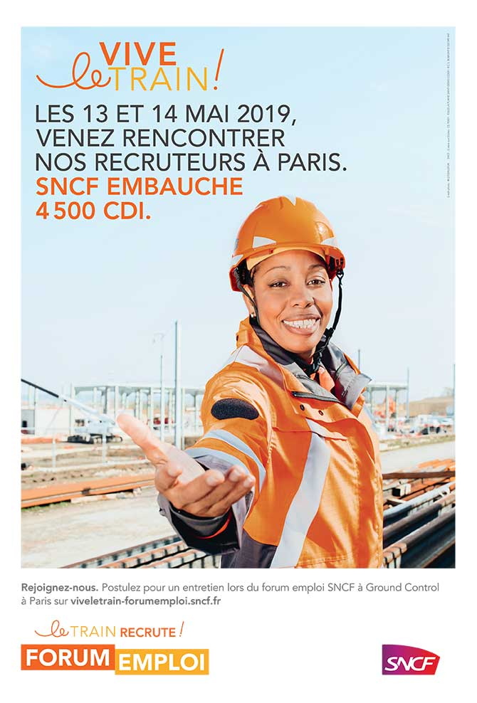 "Affiche SNCF ""Vive le train"""