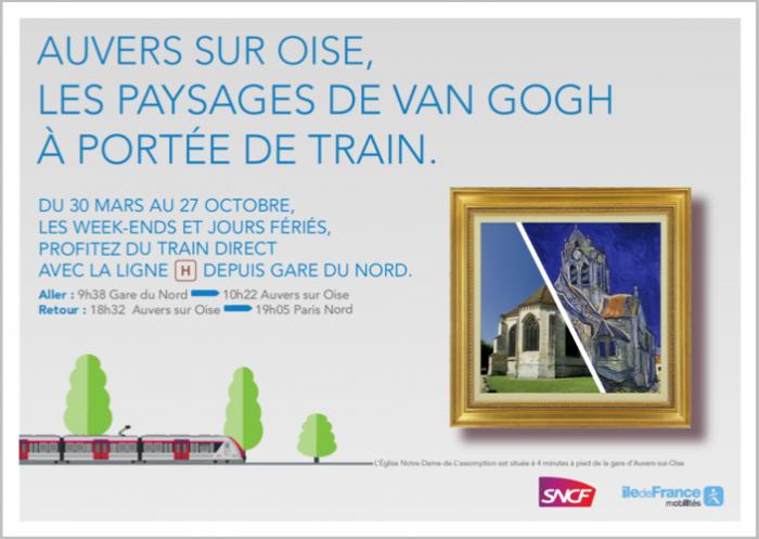 Affiche de promotion du train des impressionnistes