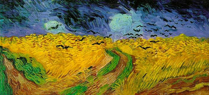 """La peinture """"Champ de blé aux corbeaux"""" de Vincent Van Gogh"""
