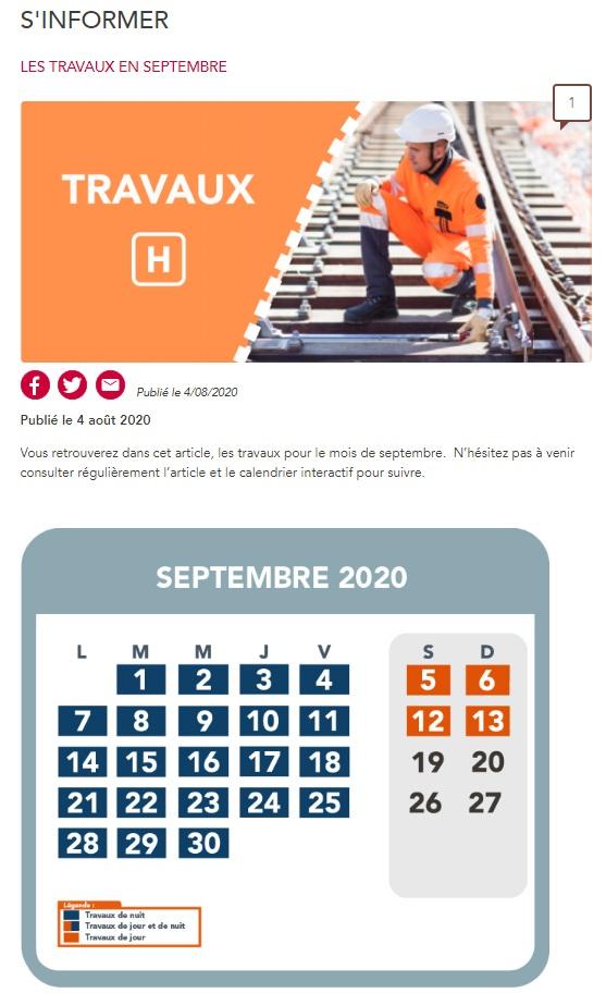 Vous arrivez directement sur l'article travaux où vous trouverez les impacts sur la circulation de vos trains.